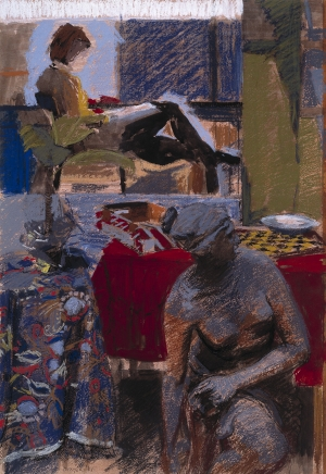 Stuart Denyer, Still Life with Figure in the Background